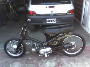 Honda Econo-Power C90 negra tuning_